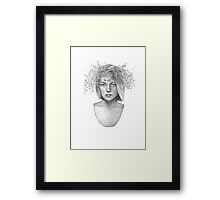 Wreath Girl Framed Print