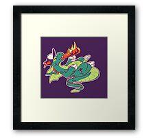 Marshmallow Dragon Framed Print