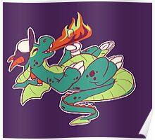 Marshmallow Dragon Poster