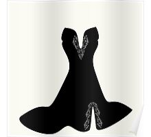 elegant dress with lace elements ,vector illustration Poster