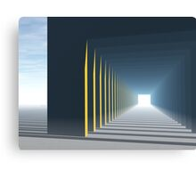 Linear Perspective of Light Canvas Print