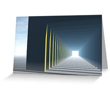 Linear Perspective of Light Greeting Card