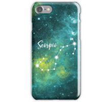 Scorpio Zodiac Sign, October 23 - November 21 iPhone Case/Skin