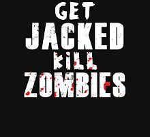 Get JACKED kill ZOMBIES (white text) Tank Top