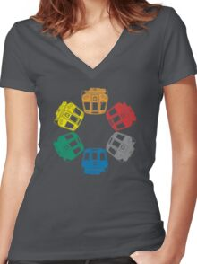 DC Metro Cars Women's Fitted V-Neck T-Shirt