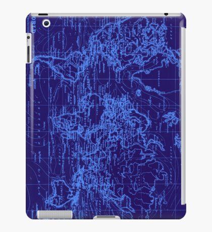 World Map (1899) Blue & Light Blue iPad Case/Skin