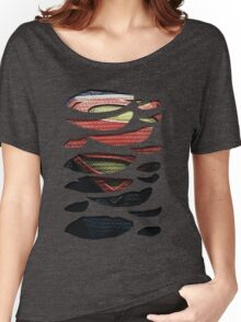 Superhero Ripped Chest Women's Relaxed Fit T-Shirt