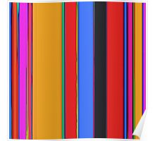 Bright stripes Poster