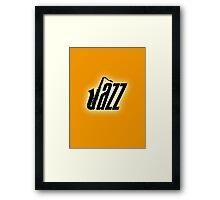 Black jazz Framed Print