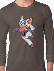Rouge the Bat in Action Long Sleeve T-Shirt