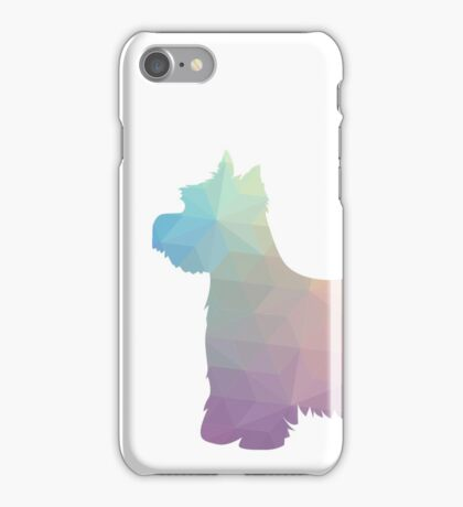 West Highland White Terrier - Westie - Colorful Geometric Pattern Silhouette - Pastel iPhone Case/Skin