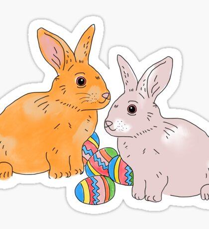 Easter bunnies, bunny Sticker