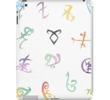 watercolor runes iPad Case/Skin
