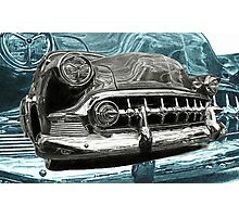 BLUE CHROME Photographic Print