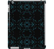 Blue on Black Symmetry iPad Case/Skin
