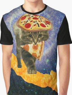 pizza cheetos cat Graphic T-Shirt