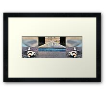 At the Synagogue Square Framed Print