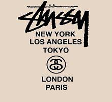 STUSSY World Tour Warp Crew logo Unisex T-Shirt
