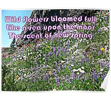 Wild Flowers Like a Sea  Poster