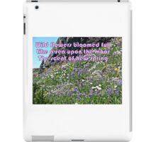 Wild Flowers Like a Sea  iPad Case/Skin