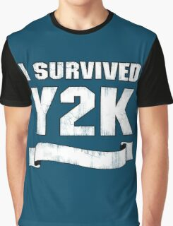 Y2K Survivor Graphic T-Shirt