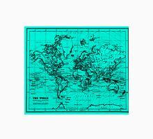 World Map (1899) Light Blue & Black Unisex T-Shirt
