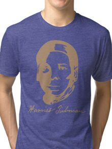 Harriet Tubman's T-shirt  with Real Signature  Tri-blend T-Shirt