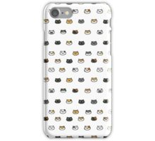 neko atsume kitty faces iPhone Case/Skin