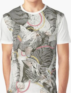 cats /rose and gold Graphic T-Shirt
