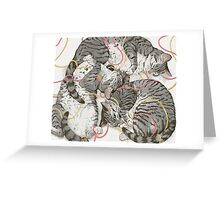 cats /rose and gold Greeting Card