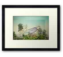 Good to be back home on the mountain Framed Print