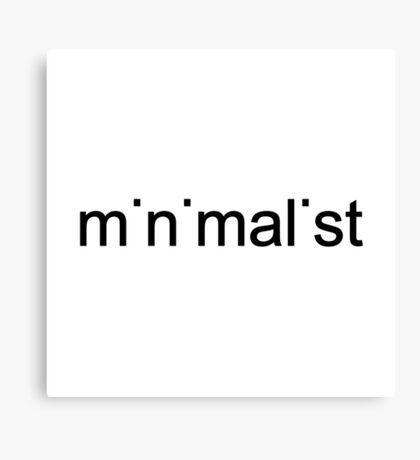 """minimalist"" typography Canvas Print"