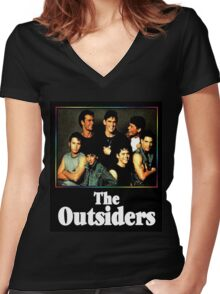 The Outsiders Movie Women's Fitted V-Neck T-Shirt