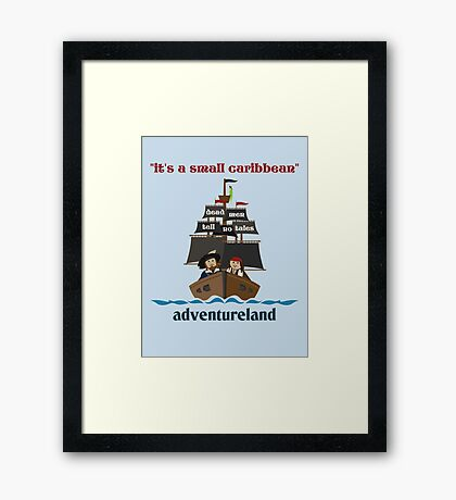 it's a small caribbean Framed Print