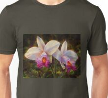 Bamboo Orchid - Tropical Hawaiian White Wildflower Unisex T-Shirt