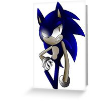 Dark Sonic Greeting Card