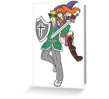 Hero's Matthew and Amelia Greeting Card