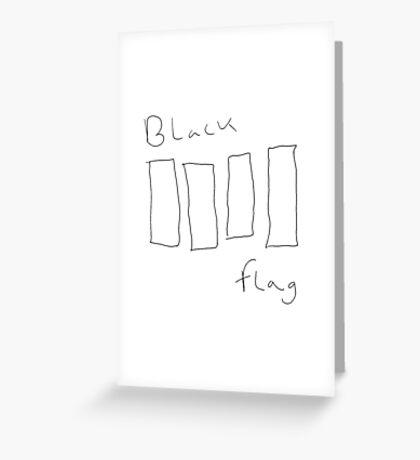 Black Flag hand-drawn transparent logo Greeting Card