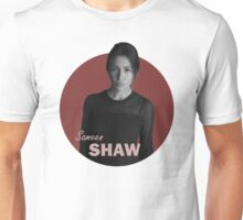 Shaw - Person of Interest - B&W Unisex T-Shirt