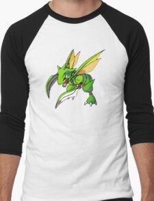 Shiny Scyther Men's Baseball ¾ T-Shirt