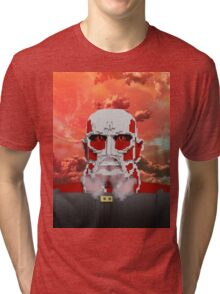 Attack on titan - Shingeki no Kyojin - Minecraft Tri-blend T-Shirt