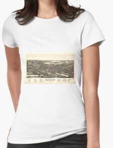Bellevue Ohio Sandusky & Huron counties (1888) Womens Fitted T-Shirt