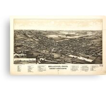 Bellevue Ohio Sandusky & Huron counties (1888) Canvas Print
