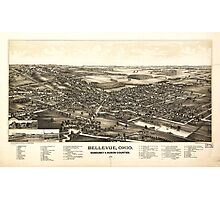 Bellevue Ohio Sandusky & Huron counties (1888) Photographic Print