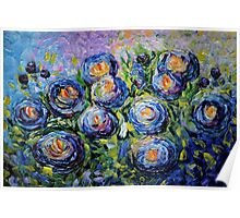 Roses are Blue by Lena Owens/OLena Art Poster