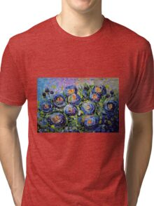 Roses are Blue by Lena Owens/OLena Art Tri-blend T-Shirt