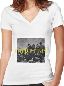 imperial denzel curry Women's Fitted V-Neck T-Shirt