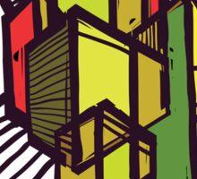 Urban sketch. Sticker