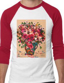 Garden Bouquet Men's Baseball ¾ T-Shirt