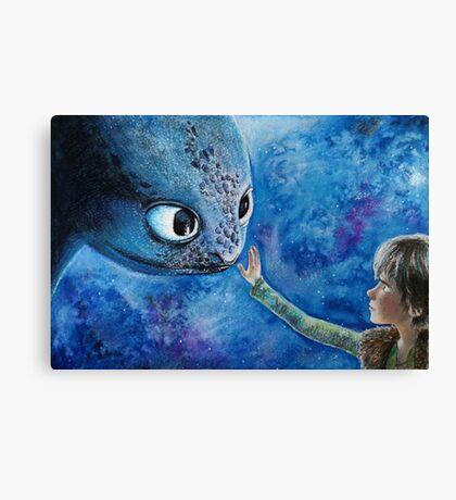 Toothless in Watercolour Canvas Print